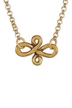 cfeed2d9c Gold Plated Infinity Charm Necklace by mariechavez on  HauteLook Infinity  Charm