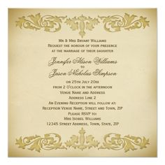 Shop Wedding Invitation Vintage Leaf Scroll in Neutrals created by Truly_Uniquely. Scroll Wedding Invitations, Wedding Invitation Design, Custom Invitations, White Envelopes, Rsvp, Announcement, Neutral, Reception