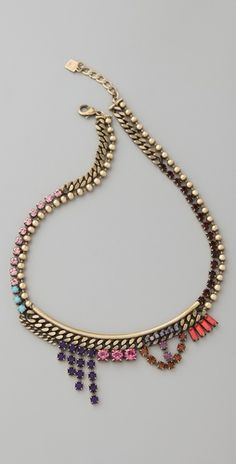 DANNIJO Ines Necklace. super love the asymmetry and color of this.