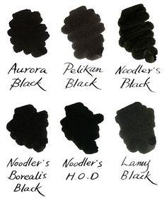Writer's Bloc Blog: Blackest Black Fountain Pen Inks