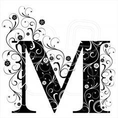 Letter Capital M, alphabet, arabic, art