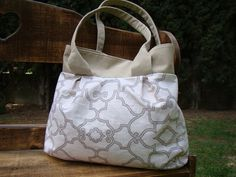 Artisan Linen and Canvas Lined Large Shoulder Bag by ayokleyjessup, $42.00