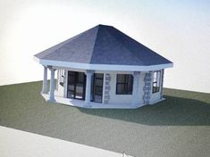 Image result for RONDAVELS HOUSES Round House Plans, Flat Roof House, Architectural House Plans, My Dream Home, South Africa, My House, Gazebo, Sweet Home, Outdoor Structures