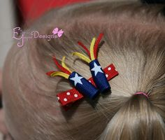 4th of July Firecracker Clippie. $3.29 USD, via Etsy.