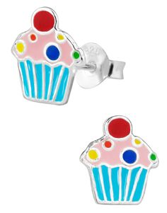 Cupcake Chic Kooky Cookie Le Quorice Shopkins Stainless Steel Trio Earrings Set