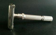 Vintage Gillette Slim Adjustable Double Edge Safety Razor for Shaving 1963 I4