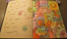 Doodles and colored pencils
