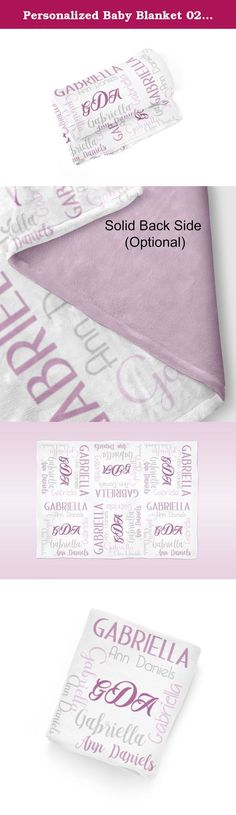 Personalized Baby Blanket 02 - Purple Baby Name Swaddling Blanket Photo Prop. 1 Personalized Baby Blanket - makes a great Baby Gift ~ I Design and Customize, You Give the Perfect Gift!~ My Personalized Baby is perfect for a new mom or mom to be! Wrap your precious baby, with a warm embrace, in this soft and cuddly blanket. Savor those close moments with your sleeping baby, as they relax in the warm comfort of the blanket in your arms. Give a child you love, the gift of a personalized...