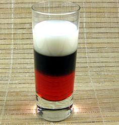 German Cherry Bomb      (■1/2 ounce Godiva chocolate liqueur  ■1/2 ounce cream  ■1/2 ounce grenadine)