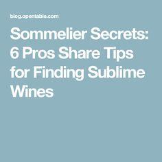 Sommelier Secrets: 6 Pros Share Tips for Finding Sublime Wines