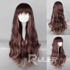 75cm X Long Charm Lolita Wavy Color Mixed Anime Cosplay wig COS-333A