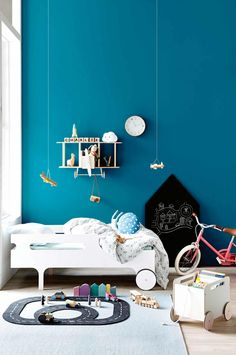 Planes, trains and automobiles: kid's room. Photography by Sam McAdam-Cooper. Styling by Jessica Hanson. From the March 2017 issue of Inside Out Magazine. Available from newsagents, Zinio, https://au.zinio.com/magazine/Inside-Out-/pr-500646627/cat-cat1680012#/, Google Play, https://play.google.com/store/newsstand/details/Inside_Out?id=CAowu8qZAQ, Apple's Newsstand,https://play.google.com/store/newsstand/details/Inside_Out?id=CAowu8qZAQ, and Nook.