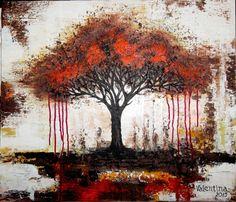 Tree of life, acrylic on canvas 70x60cm, 2015