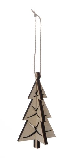 Heal's   3D Wooden Tree Hanging Decoration - Heritage Decorations - Tree Decorations - Christmas