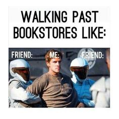 Walking past a bookstore
