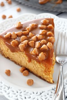 Loaded Butterscotch Cheesecake - so amazingly full of butterscotch!