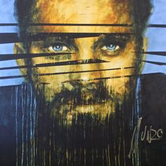 """""""the lion did tear in pieces"""" Art by Munro Men Of Courage, South African Artists, Pretoria, Olympus, Lion, Portrait, Face, Painting, Leo"""