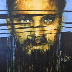 """the lion did tear in pieces"" Art by Munro #SouthAfricanArtist #painting #munromunromunro #bemenofcourage #artist #munro #olympus #theshowroom #pretoria"