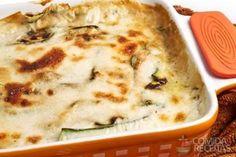 Receita de Abobrinha com molho branco em receitas de legumes e verduras, veja essa e outras receitas aqui!