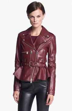 McQ by McQueen 'Congo' Leather Biker Jacket available at #Nordstrom