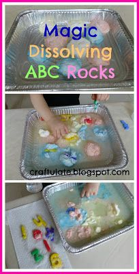 Craftulate: Magic Dissolving ABC Rocks