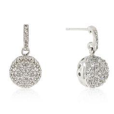 Crystal Ball Dangle Earrings