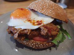 (Loc) Posted on May 27 2016 at 04:34AM:  #pork #burger #pulledpork #porkroll #roll #friedegg #egg #eggyolk #kasoundi #baconjam #porkburger #bondibeach #cafe  #sydney #sydneyfood #sydneyfoodshare #sydneyfoodie #sydneyeats #sydneycafe #food #foodie #eat #foodporn #foodpics #foodgasm #followme #follow4follow #instagood #instadaily #like4like by sheepsheepeatsall