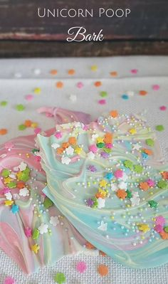 Unicorn Poop Bark is what fairy tale dreams are made of.  Your kids will LOVE helping you make this super easy recipe. Pin for Later!