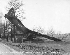 CG-4A Troop Glider being recovered at Wesel Germany 1 April 1945.