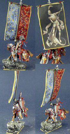 Bretonnia Standard Bearer for Warhammer