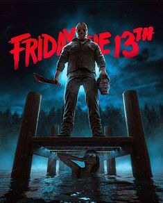Horror Movie Characters, Horror Movie Posters, Horror Villains, Jason Viernes 13, Jason Voorhees Wallpaper, Friday The 13th Poster, Funny Horror, Horror Cartoon, Horror Artwork