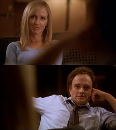 The West Wing ~ Janel Moloney as Donna Moss, Bradley Whitford as Josh Lyman