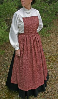 Recollections: 19th Century Pinner Apron - I can design this myself.