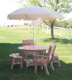 """Amish 48"""" Round Picnic Table"""