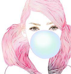 Bubble Gum Girl by Hajin Bae