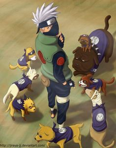 Kakashi and his ninken