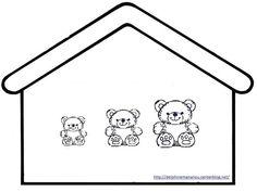 Ours tri de couleur, les maisons