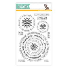 SIMON SAYS STAMPS Simon Says Clear Stamps CIRCLE SAYINGS HOLIDAY sss101551 Create Joy