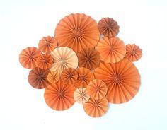 Orange Toned Pinwheel Decoration by DECORBYTORIA on Etsy, $50.00