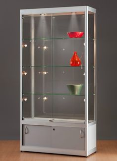 Trophy Cabinets, Wine Cabinets, Glass Display Case, Display Shelves, Shelving, My Furniture, Cabinet Furniture, Office Counter Design, Almirah Designs