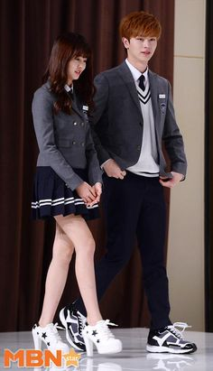 Yook Sungjae and Kim So Hyun Asian Actors, Korean Actresses, Korean Actors, Watch Korean Drama, Korean Drama Movies, Korean Dramas, School Uniform Girls, Girls Uniforms, Moda Ulzzang