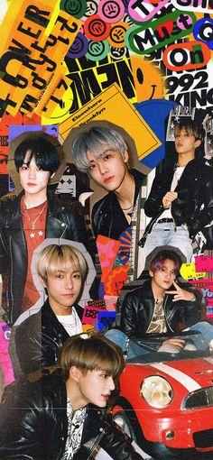 Retro Wallpaper, Black Wallpaper, Iphone Wallpaper, Screen Wallpaper, Wallpaper Quotes, J Pop, Nct Dream Jaemin, Nct Life, Jeno Nct