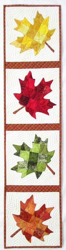 Maple Leaf Quilt Pattern Table Runner : 1000+ images about TABLE RUNNERS & WALL QUILTS on Pinterest Table runners, Table toppers and ...