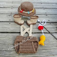 Crochet Newborn-3 Months Baby Fisherman Photo by HandcraftedLoot