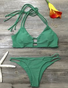 Baby you gotta be hotter. I love this swimwear with its Halter design&strappy detailing. I plan on wearing something like this on hot beach all summer! You are feeling like a beach star,too!