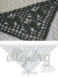 El patrón de las mariposas del mantón de la Luna | Crochet por Ellej | Ganchillo de Elena Kozhukhar