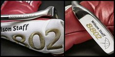 """April """"Check out this honorary 8802 putter"""" that Wilson Golf gave Arnold Palmer as """"a tribute to his ambassadorship of Wilson Staff on tour,"""" said Wilson Golf. Wilson Golf, Arnold Palmer, Golf Style, April 13, Golf Fashion, Beats, All About Time, Favorite Things, Classic"""