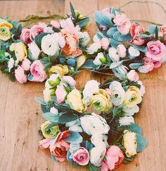 Bachelorette flower crowns in a box! We ship you custom made flower crowns for your bachelorette weekend or ladies weekend away!