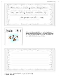 Lots of bible printables, including a monthly bible reading chart