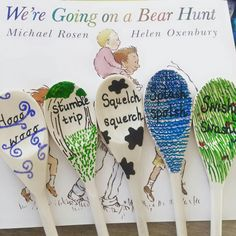 STORY SPOONS: We're Going on a Bear Hunt  (back view)